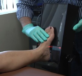 The process of scanning to fit foot orthotics is quick, clean and accurate.